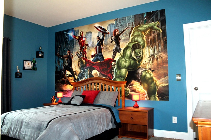 superhero bedroom boys rooms pinterest