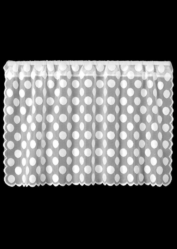 """Polka Dot sheer lace curtain 30"""" tiers by Heritage Lace made in the ..."""