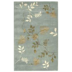 Handmade Soho Twigs Light Blue New Zealand Wool Rug (6' x 9') $305.99