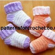 Crochet Patterns Using Sport Weight Yarn : 10 Free Crochet Sock Patterns crochet projects Pinterest