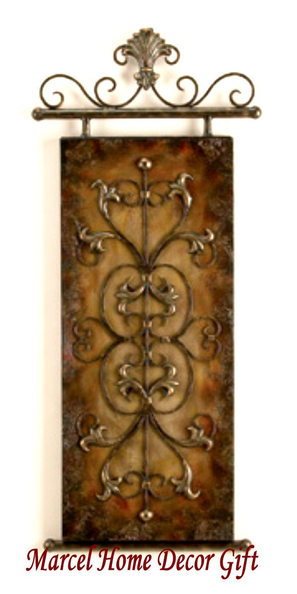 Tuscan decor bing images wall decor pinterest for Kitchen colors with white cabinets with tuscan wrought iron wall art