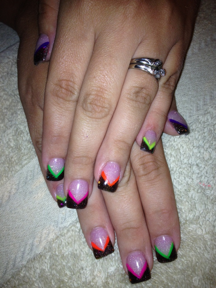 Neon Acrylic Nail Designs – ledufa.com