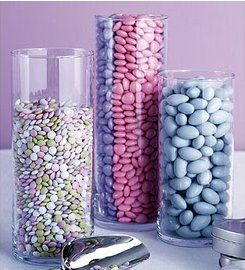 Cylinder Centerpieces for your wedding table centerpieces. Fill them with shells for beach wedding, colorful dice for Vegas theme or gorgeous floral arrangements for traditional vows, these glass vases add charm and elegance to your tables.