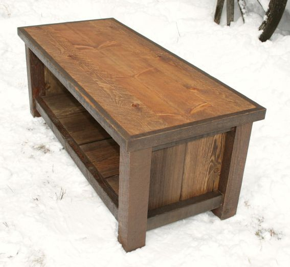 Homemade coffee table from etsy coffe and end tables for Diy coffee and end tables