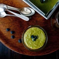 Classic Tapioca Pudding with hint of Matcha. Tastes just like Matcha ...