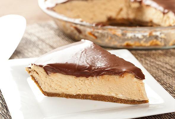 No Bake Peanut Butter Pie~ 9-inch graham cracker crust 3/4 cup ...