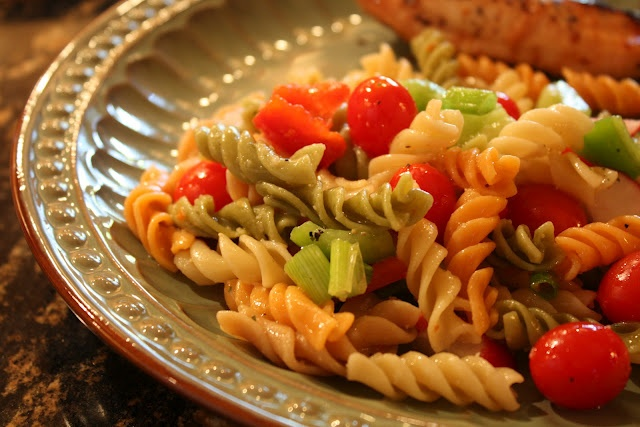 wendys hat easy pasta salad recipe salads pinterest