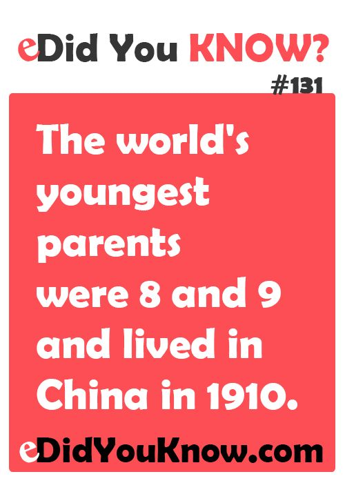 the worlds youngest parents the worlds youngest parents the youngest    Youngest Parents 1910