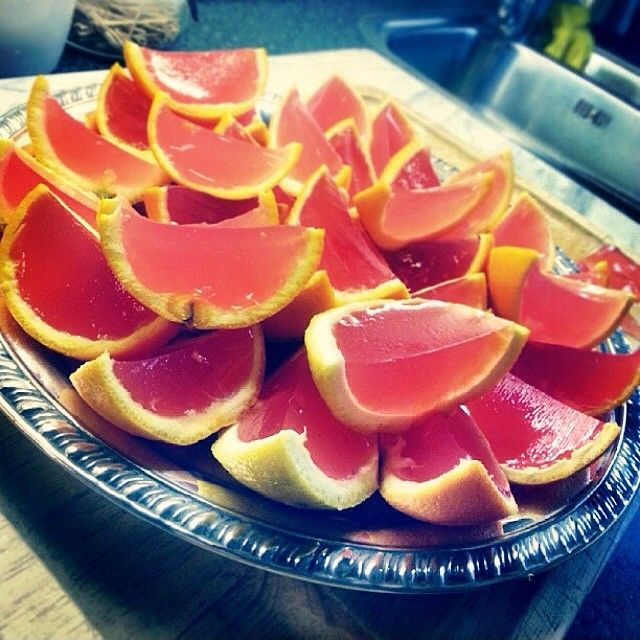 PINK LEMONADE JELLO SHOTS 8-10 Lemons 2 Packet Gelatin 1 Cup Vodka 1 ...