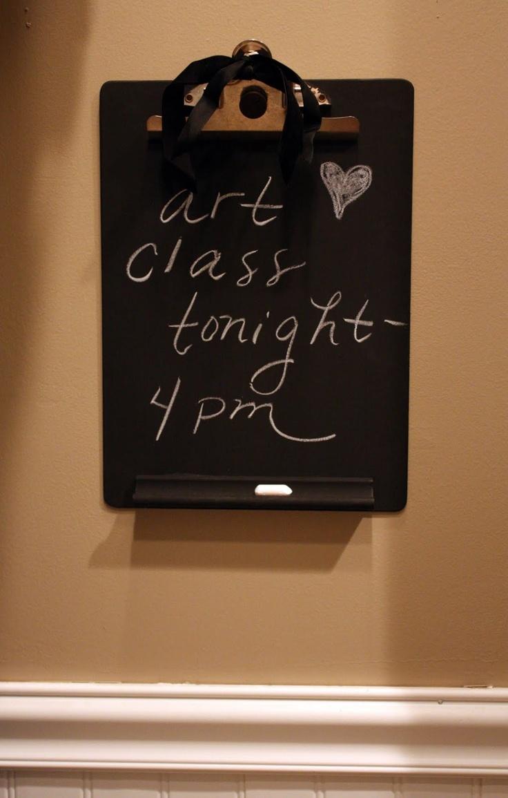 DIY chalkboard clipboard | She is just sooo crafty! | Pinterest
