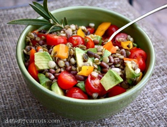 Summer Sprouted Bean Salad with Avocado | For the calorie concern | P ...