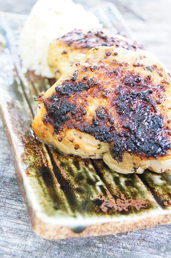 Baked Chicken with Honey-Whole Grain Mustard Glaze