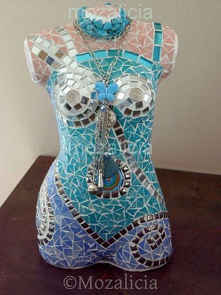 Buste turquoise Mosaique Pinterest
