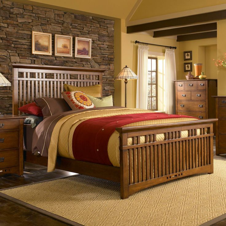 Pin by turk furniture on beautify your home with broyhill for Mission style bedroom furniture