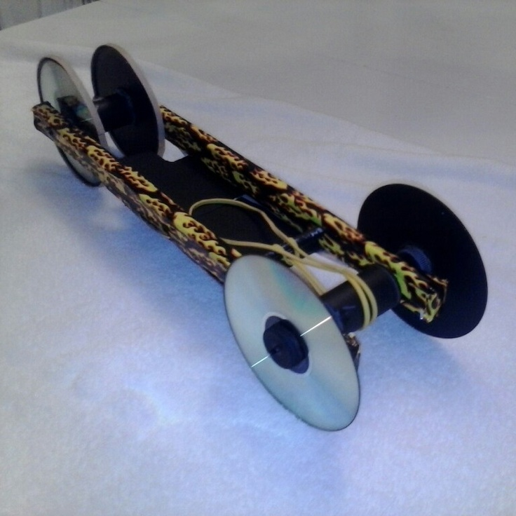 how to make a rubber band powered car for school