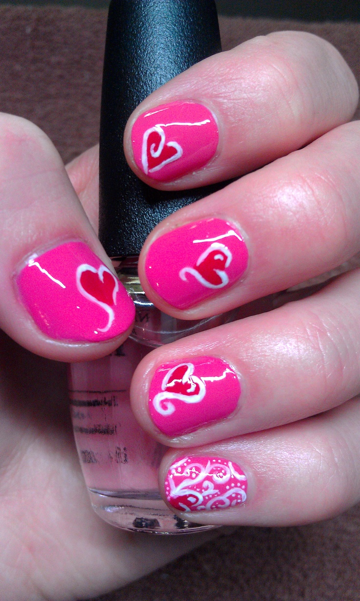 valentine nails art