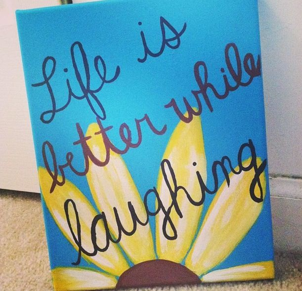 Cute Quotes On Canvas: Canvas Idea Instagram-@katiecanvas04