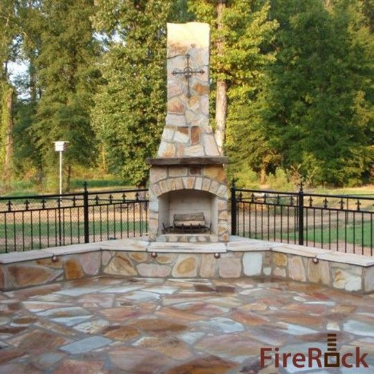 Outdoor fireplace for the home pinterest for Firerock fireplaces