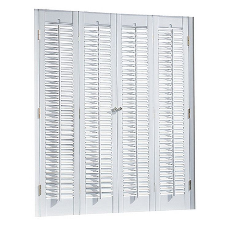 ... 37-in W 36-in L Colonial White Faux Wood Interior Shutter at Lowes.com