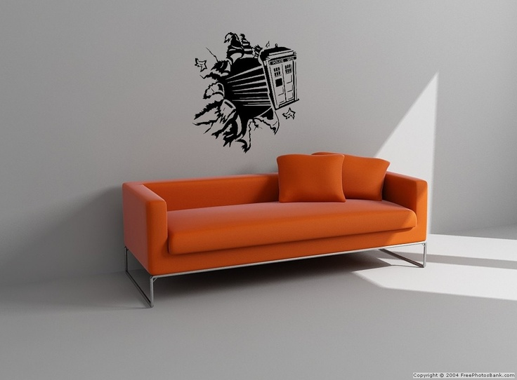 doctor who exploding tardis wall decal by vinyltherapy on etsy