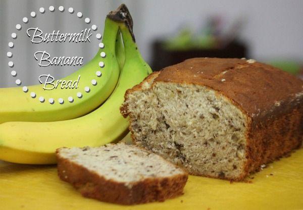 Buttermilk Banana Bread Recipe | Shibley Smiles