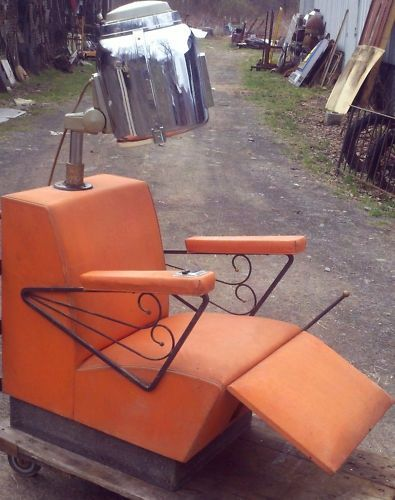 Vintage Salon Chairs VINTAGE BEAUTY PARLOR HAIR DRYER CHAIR