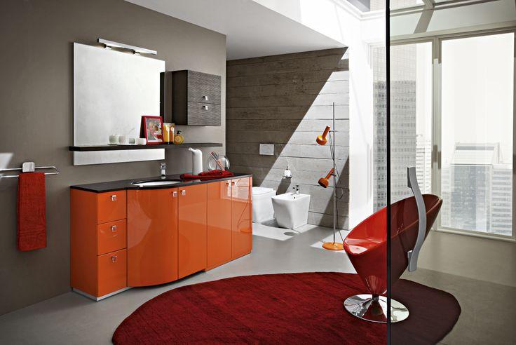 Bagno moderno arancio [Tibonia.net]