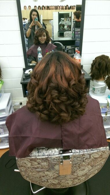 Curled hair with straightener | Hair | Pinterest