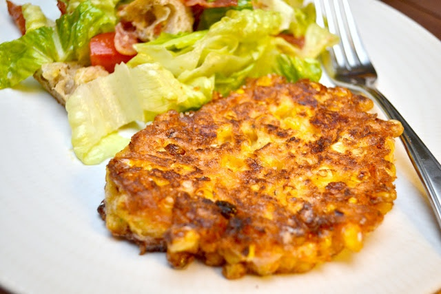Corn Fritters and BLT Salad | Yummy! | Pinterest