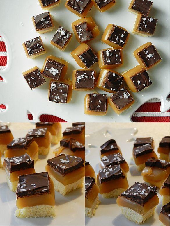 ... shortbread cookies salted caramel and dark chocolate shortbread bites