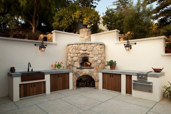 outdoor kitchen designs featuring pizza ovens fireplaces and other c