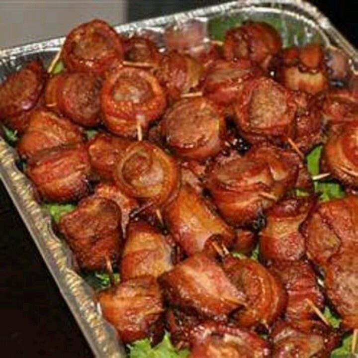 Bacon Wrapped Bratwursts Recipe — Dishmaps