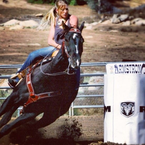 Black quarter horses barrel racing - photo#21