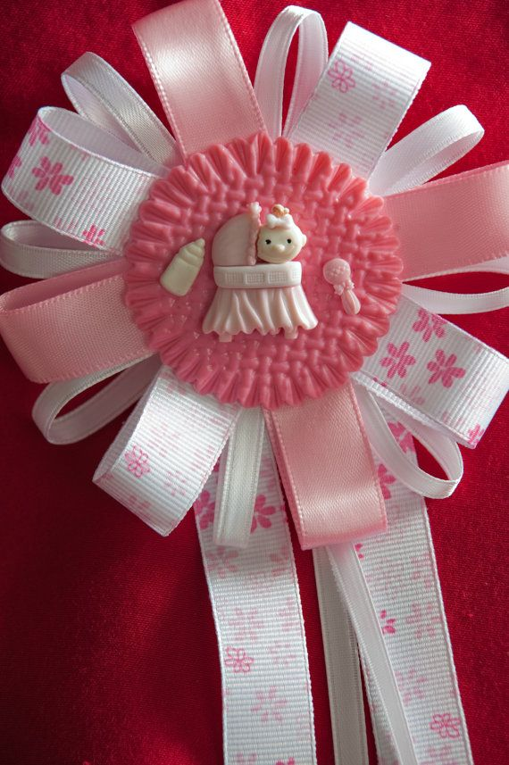 baby shower corsage it 39 s a girl for mom to be corsage pin favor