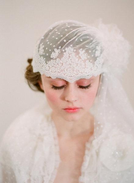 ウェディングドレス ウェディングドレス レトロ : French Lace Wedding Veil