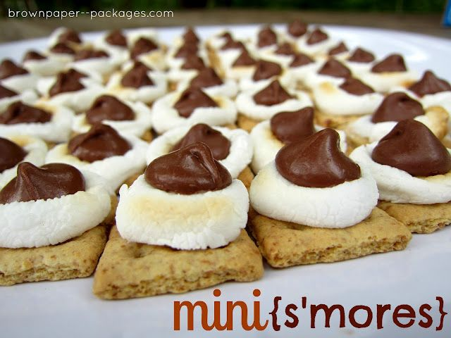 Mini S'mores...the perfect summer treat!