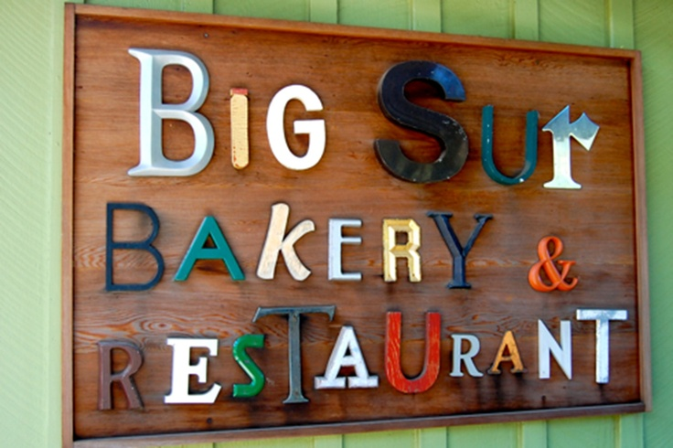 Big Sur Bakery.  Good food and great sign. - Hwy 1 in California
