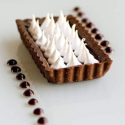 ... tart shell. I'd fill the tart with something, like ganache, then put