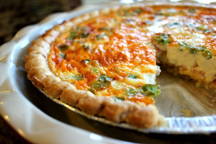 Ham and Cheese Quiche-- great use of leftover Easter Ham, especially ...