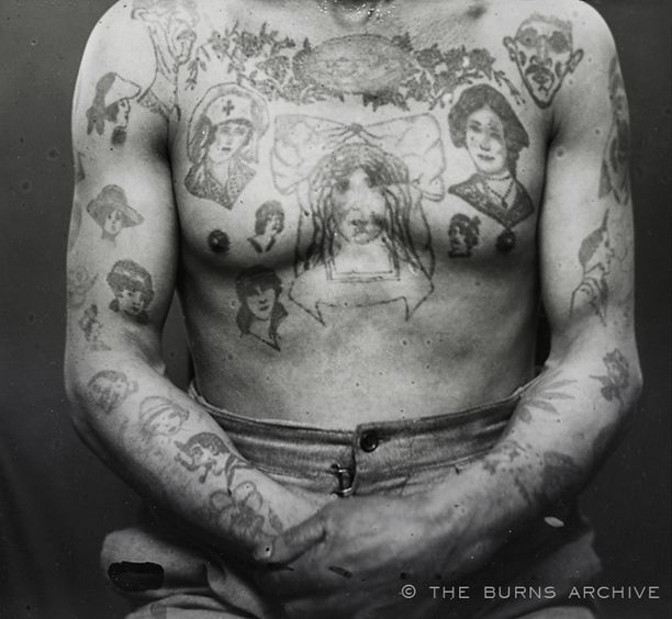 19th century french criminal tattoos thugs footpads For19th Century Tattoos