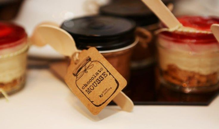 ... set into small glass jars...berry cheesecake and #chocolate pots