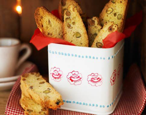 Pistachio & saffron biscotti | Cookie monster | Pinterest