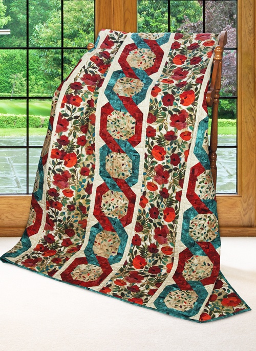 """""""Chain Reaction"""" by Cathy Anderson and Susanna Cohen (from Quilt Trends Magazine Summer 2013 issue)"""