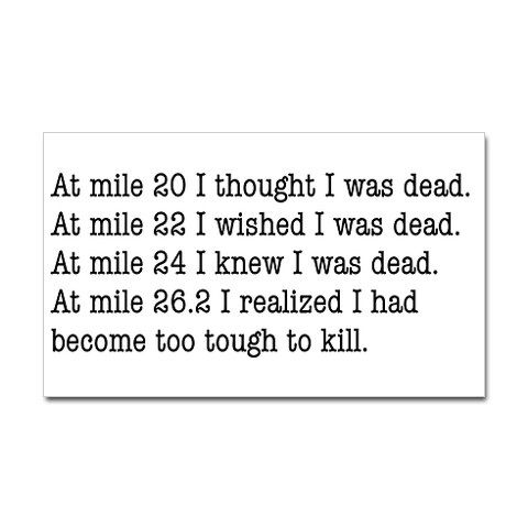 Running a marathon is on my life list, so I'll have to remember this.