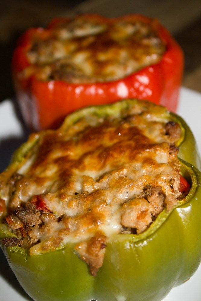 Turkey Stuffed Peppers | Cooking | Pinterest