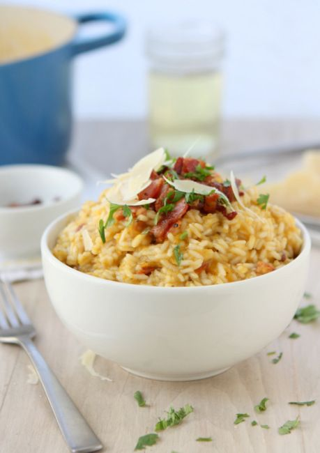Butternut Squash Risotto with Bacon and Sage | Recipe