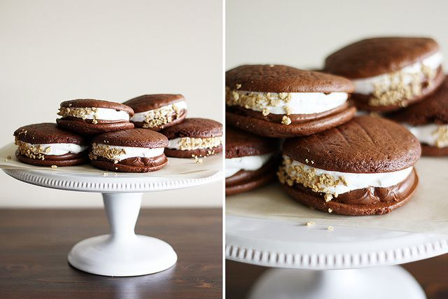 double chocolate s'mores whoopie pies by girlversusdough, via Flickr