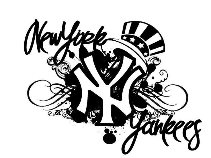 cool new york yankees background sports desktop wallpaper tattoos pinterest. Black Bedroom Furniture Sets. Home Design Ideas