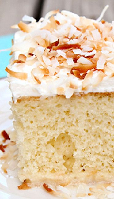 Coconut Tres Leches Cake | Holidays~Food~DIY~Decor | Pinterest