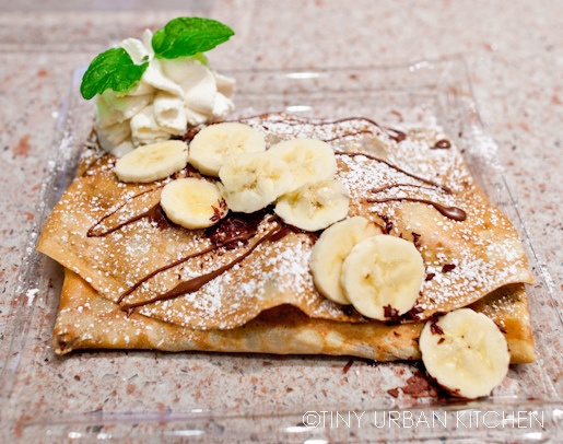 nutella and banana crepe | food | Pinterest